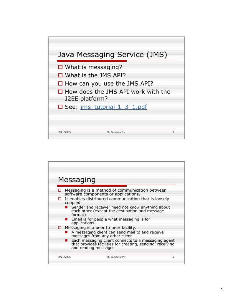 Java Messaging Service (JMS)