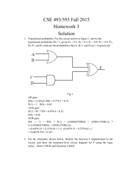 CSE 493/593 Fall 2015 Homework 3 Solution