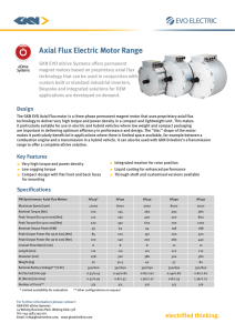 Axial Flux Electric Motor Range