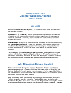 Learner Success Agenda  Our Vision