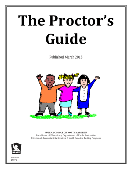 The Proctor's Guide Published	March	2015