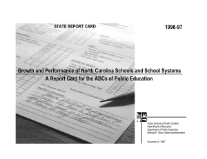 1996-97 Growth and Performance of North Carolina Schools and School Systems