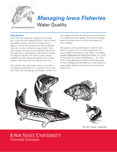 Managing Iowa Fisheries Water Quality Introduction