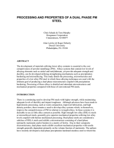 PROCESSING AND PROPERTIES OF A DUAL PHASE PM STEEL