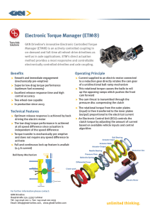 Electronic Torque Manager (ETM®)