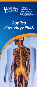 Applied Physiology Ph.D. College of Health Sciences
