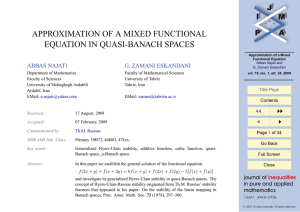 APPROXIMATION OF A MIXED FUNCTIONAL EQUATION IN QUASI-BANACH SPACES ABBAS NAJATI