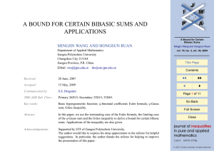 A BOUND FOR CERTAIN BIBASIC SUMS AND APPLICATIONS