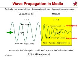 Wave Propagation in Media