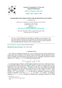 Journal of Inequalities in Pure and Applied Mathematics