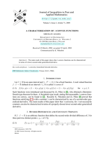 Journal of Inequalities in Pure and Applied Mathematics  A CHARACTERIZATION OF