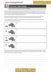 www.studyguide.pk  Pavlov's dogs: the first insight into classical conditioning