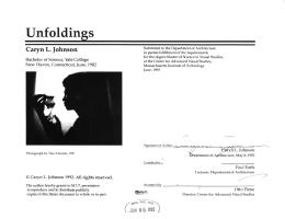 Unfoldings Caryn L.  Johnson