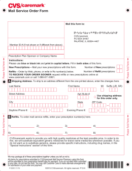 Medication Order Form Aetna Rx Home Delivery