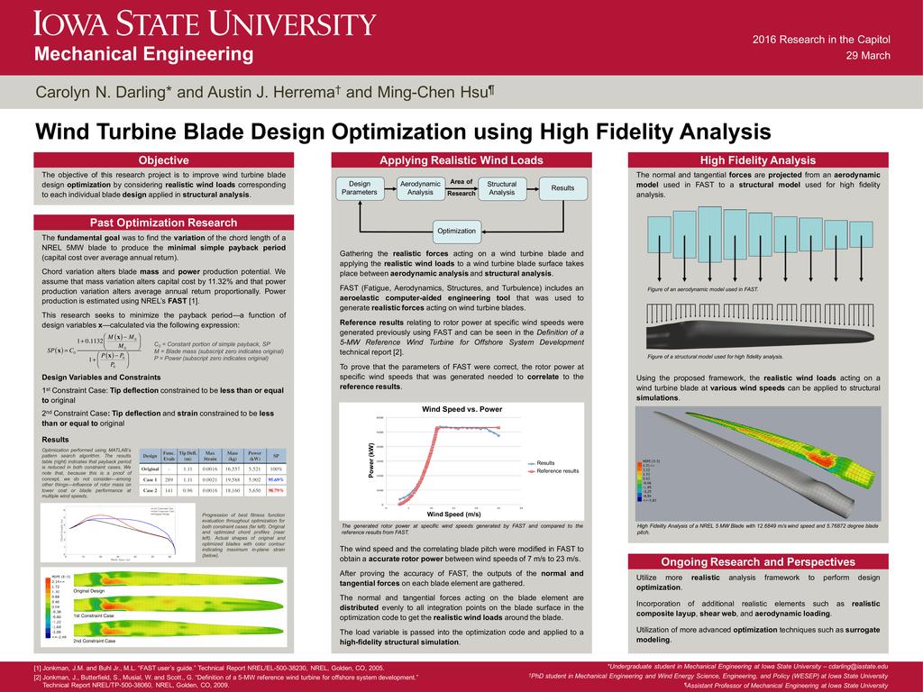Wind Turbine Blade Design Optimization using High Fidelity