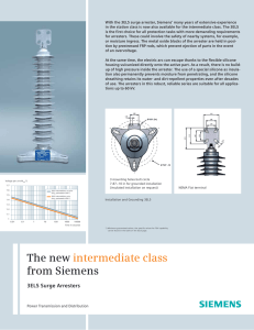 With the 3EL5 surge arrester, Siemens' many years of extensive... in the station class is now also available for the...