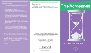 Time Management Helpful hints Resources