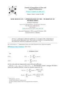Journal of Inequalities in Pure and Applied Mathematics  SOME RESULTS ON