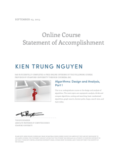 Online Course Statement of Accomplishment KIEN TRUNG NGUYEN SEPTEMBER 03, 2013