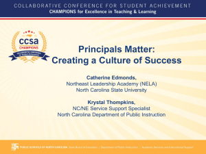 Principals Matter: Creating a Culture of Success