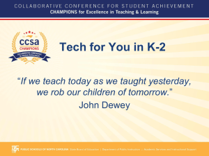 Tech for You in K-2 John Dewey