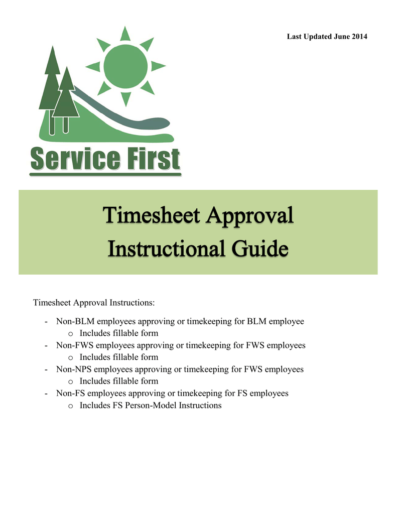 timesheet approval instructions includes fillable form