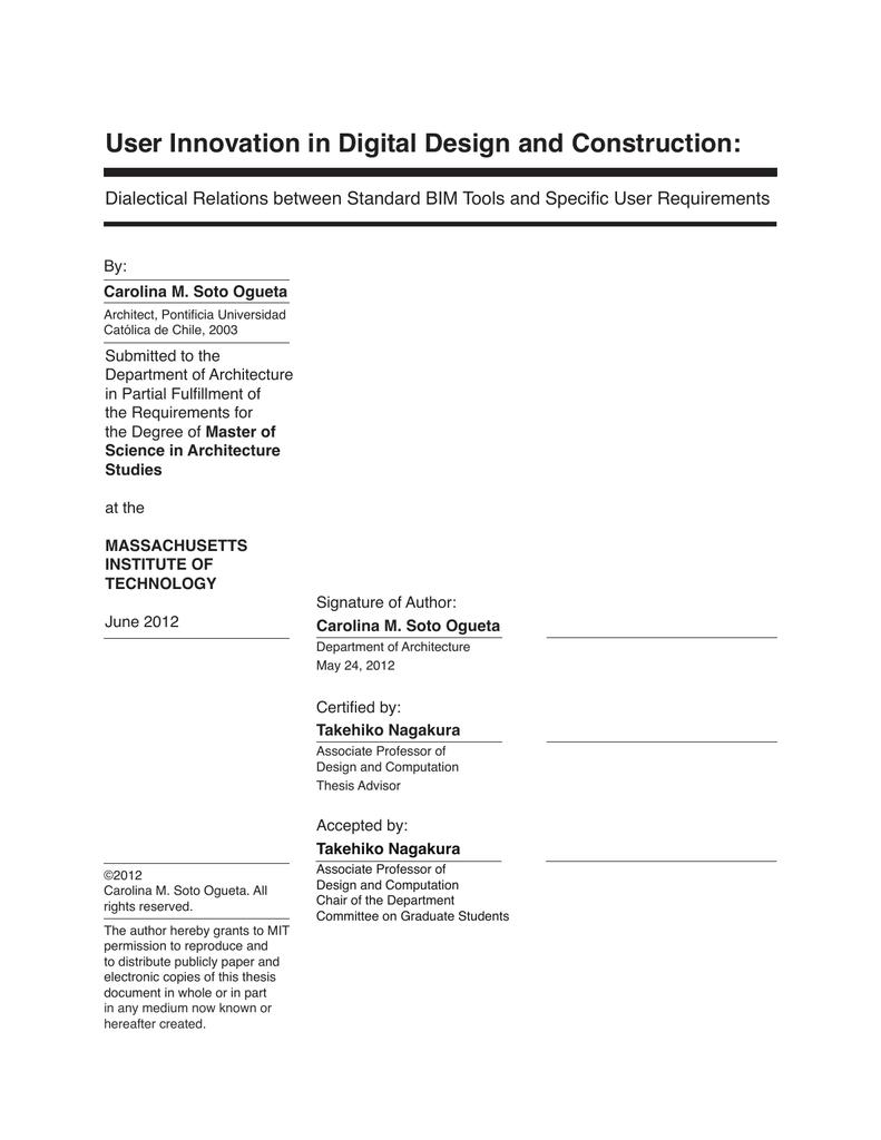 User Innovation in Digital Design and Construction: