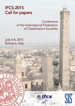 IFCS-2015 Call for papers Conference of the International Federation