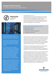 Paragon Internet Group A Case Study from Emerson Network Power