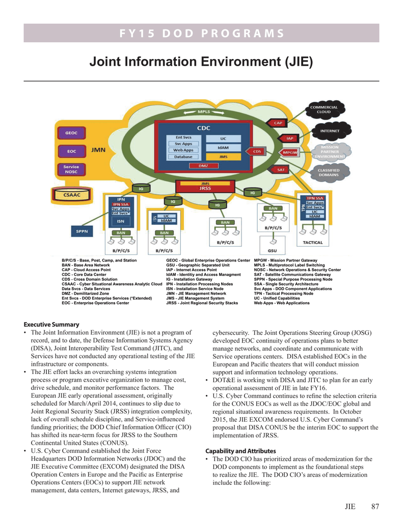 Joint Information Environment (JIE)