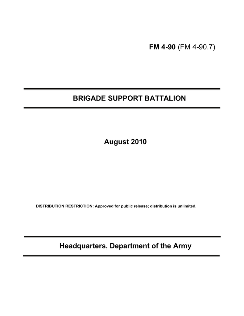 Field Manual Interim FMI 4-93.2 The Sustainment Brigade February 2009 US Army