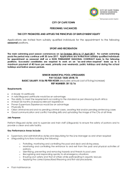 CITY OF CAPE TOWN PERSONNEL VACANCIES