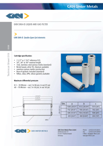 GKN SIKA-IS LIQUID AND GAS FILTER
