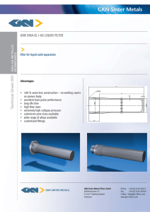 GKN SIKA-IS /-AS LIQUID FILTER