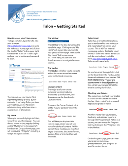 Talon – Getting Started