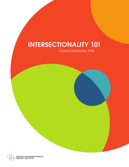 INTERSECTIONALITY 101 Olena Hankivsky, PhD