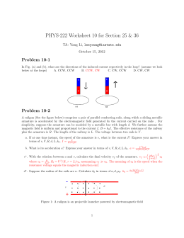 PHYS-222 Worksheet 10 for Section 25 & 36 Problem 10-1