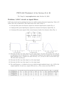 PHYS-222 Worksheet 12 for Section 25 & 36