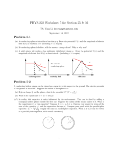 PHYS-222 Worksheet 5 for Section 25 & 36 Problem 5-1