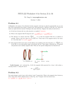 PHYS-222 Worksheet 8 for Section 25 & 36 Problem 8-1