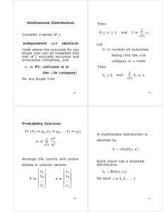 Multinomial Distribution Then I