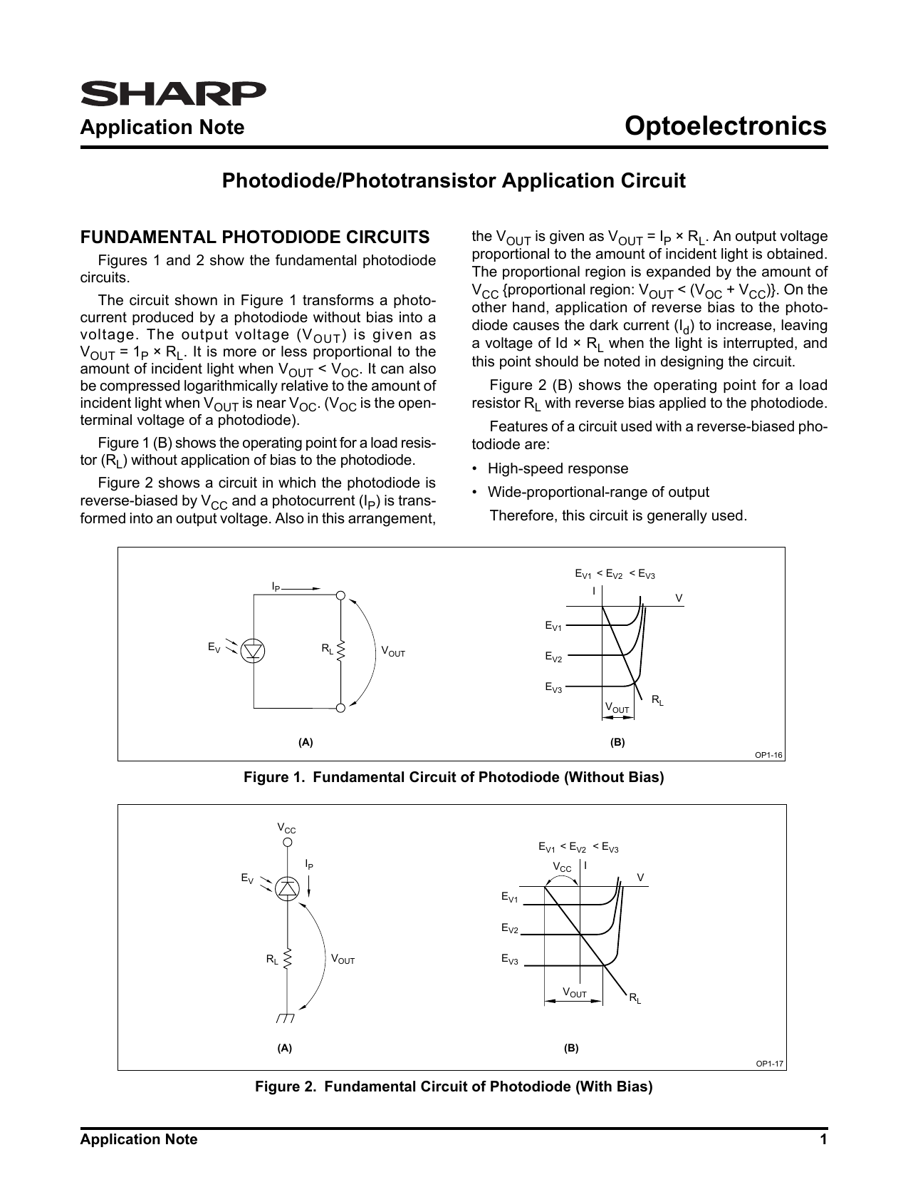 Optoelectronics Application Note Fundamental Photodiode Circuits Photodiodes Signal Conditioning Ic