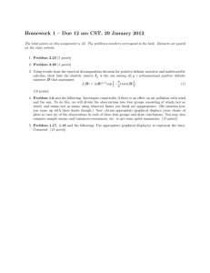 Homework 1 – Due 12 am CST, 29 January 2012