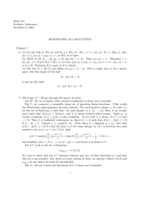 Math 515 Professor Lieberman November 8, 2004 HOMEWORK #11 SOLUTIONS
