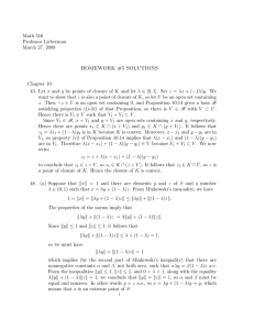 Math 516 Professor Lieberman March 27, 2009 HOMEWORK #5 SOLUTIONS
