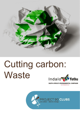 Cutting carbon: Waste