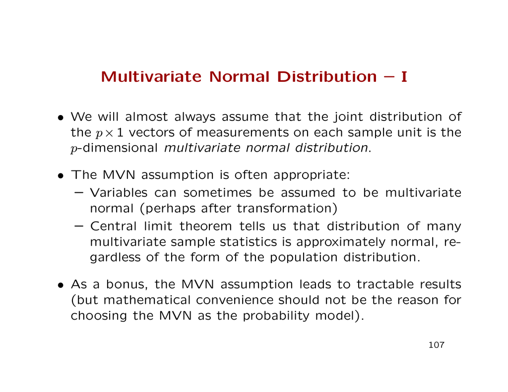 bivariate normal distribution