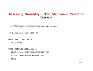 Assessing Normality – The Microwave Radiation Dataset