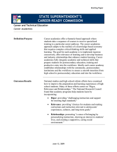 STATE SUPERINTENDENT'S CAREER-READY COMMISSION
