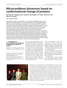Microcantilever biosensors based on conformational change of proteins Hai-Feng Ji,* Hongyan Gao,